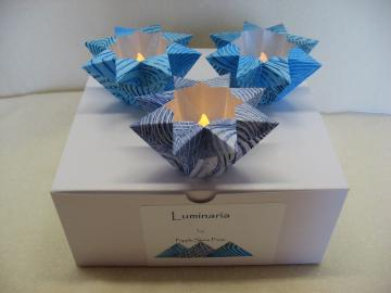 Set/3 Small Luminaria (2 blue/1 gray-blue)