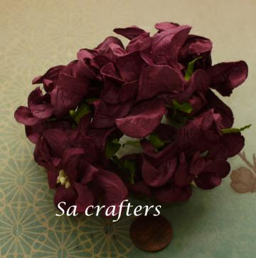 Wine Gardenia 2-1/4x2-1/4inches-25 flowers