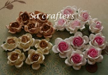 1-3/8 inches paper flowers mix colors-20 Flowers-set2