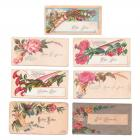 Victorian Calling Cards Floral Antique 1890s Scrapbooking Collage Lot of 7