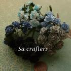 5/8inch  paper flowers in mix colors tone blue-100 Flowers