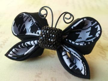 Kanzashi Fabric Butterfly Hair Clip