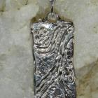 Olympic Trails Pure Silver Sculptural Pendant -Jewelry by Bridget OOAK