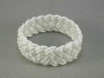 white nylon turks head bracelet medium 1357