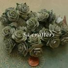 1inch Roses paper flowers in Sage Green color-50 Flowers