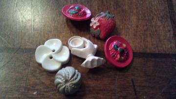 Cute vintage mixed buttons