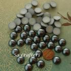 Darker Silver half Resin beads pearl 14mm 50 pieces