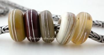 Buyer's Choice Neutral European Charms with Fine Silver - Handmade Lampwork beads