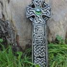 Rubbed Black Celtic Cross