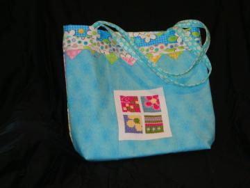 Tote, bag, cotton, washable, flowered
