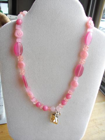Pink Kitty Charm Necklace