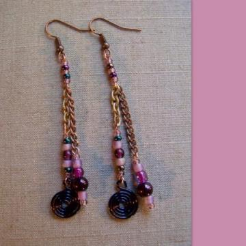Purple Tassle Earrings