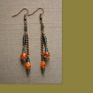 Autumnal Tassle Earrings
