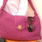 Crocheted Berry Pink Handbag