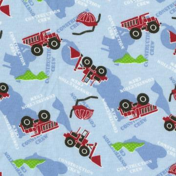 CONSTRUCTION CREW, Cotton Jersey Knit Fabric - By the FQ