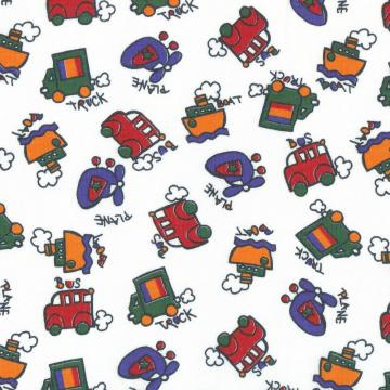 BABY TRANSPORTATION TOYs, Cotton Jersey Knit Fabric - By the Yard
