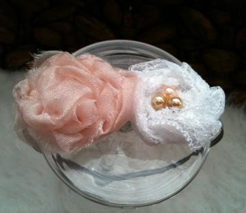 Newborn Headband - Chantilly Pink n Lace