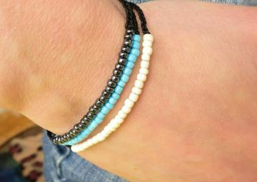 A set of 3 Macrame  Friendship Bracelets by Cartouche.