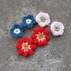 SALE apple blossom, geranium, meconopsis flower hair clips