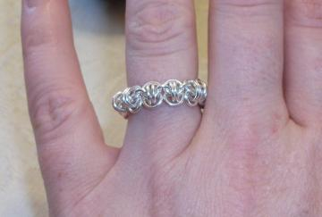 Sterling Silver Barrel Ring