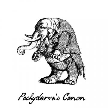 Elephant Playing Violin Fiddle &quot;Pachyderm&#039;s Canon&quot; 5x7&quot; print Musical Illustration violinists and fiddlers