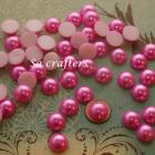 Hot pink half Resin beads pearl 14mm 50 pieces