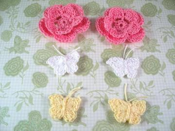 Crochet Flower and Butterfly Set