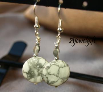 Howlite Dangle Earrings 12036