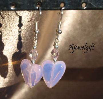 Pink Heart Earrings 12052