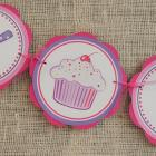 Cupcake Pink and Purple HAPPY BIRTHDAY Banner
