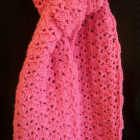Crocheted Scarf - Bubble Gum Pink
