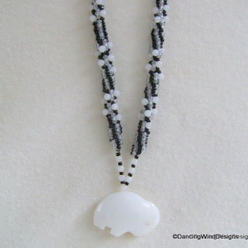 Snow Quartz White Buffalo Necklace Set
