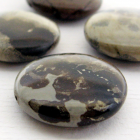 4 Picture Jasper Stone Round Coins 25 mm Set 4