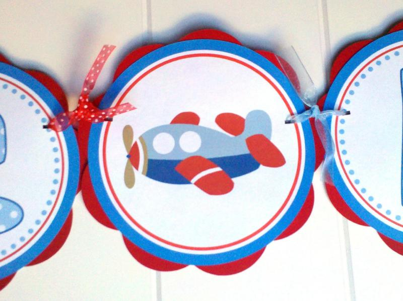 Airplane Baby Shower Banner ITS A BOY Party by GetThePartyStarted