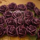 2inches paper flowers in Perfect Plum-20 Flowers
