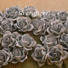 1-3/8 inches paper flowers in Dusty blue-20 Flowers