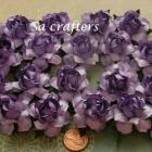 1-1/4 inches paper flowers Light Purple&Purple 20 Flowers