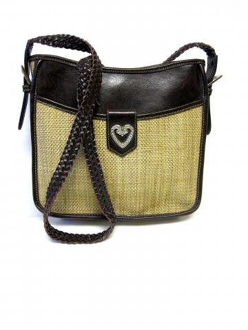 80's Tan Weave Look Purse