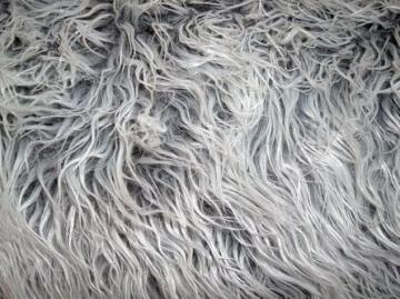 Grey Frost Mongolian Monster Posing Faux Fur for Newborn Baby Photography