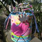 Spring Easter Altered Art basket tin can Made With Recycled Materials