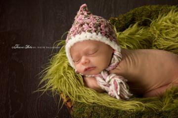 FAT BRAID PIXIE Crochet Newborn Baby Photography Prop Hat, Baby Girl Crochet Pixie Hat