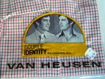 1970s Van Heusen Long Sleeve Double Identity Dress Shirt in package