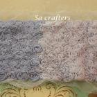 9 rows scallop flower trims in partially  Lavander&Light Lavander