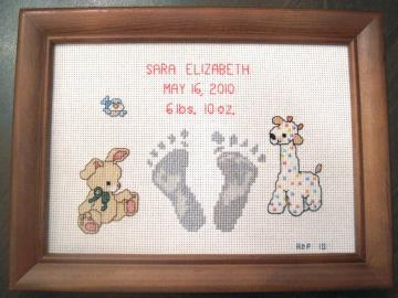 Baby's Personalized Birth Announcement--Proceeds donated to Carter's Kids,Fighting Childhood Obesity by building playgrounds across America