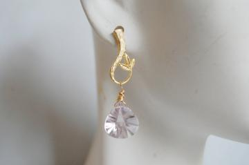 Pink amethyst  Dangle Earrings
