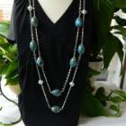 2  in  1  speckled  ceramic  beads  necklaces