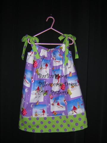 BaaBaaMoos Pillowcase Dress PDF 3m - 6y