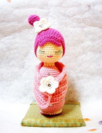 Free Japanese Amigurumi Crochet Patterns : AMIGURUMI KOKESHI DOLL CROCHET PATTERN FREE CROCHET PATTERNS