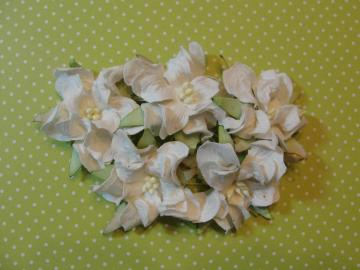 I am Roses - Creamy White Mulberry Gardenia Flowers