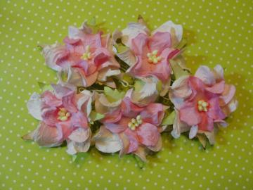 I am Roses -Spun Sugar Pink Mulberry Gardenia Flowers